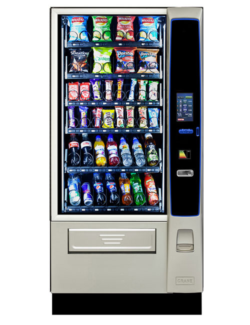 CMS Merchant Media snack and chilled drinks vending machine