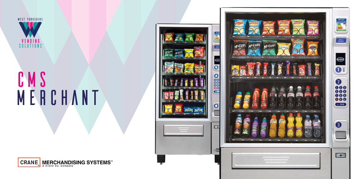 CMS Merchant confectionary and chilled drinks vending machine