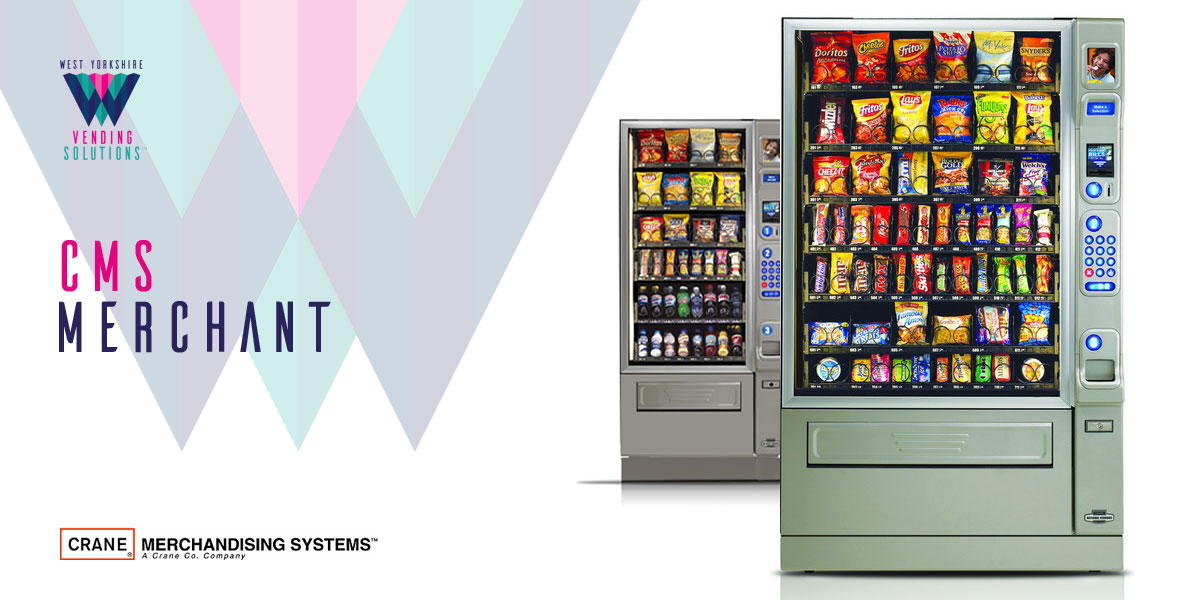 CMS Merchant confectionary and chilled drinks vending machines
