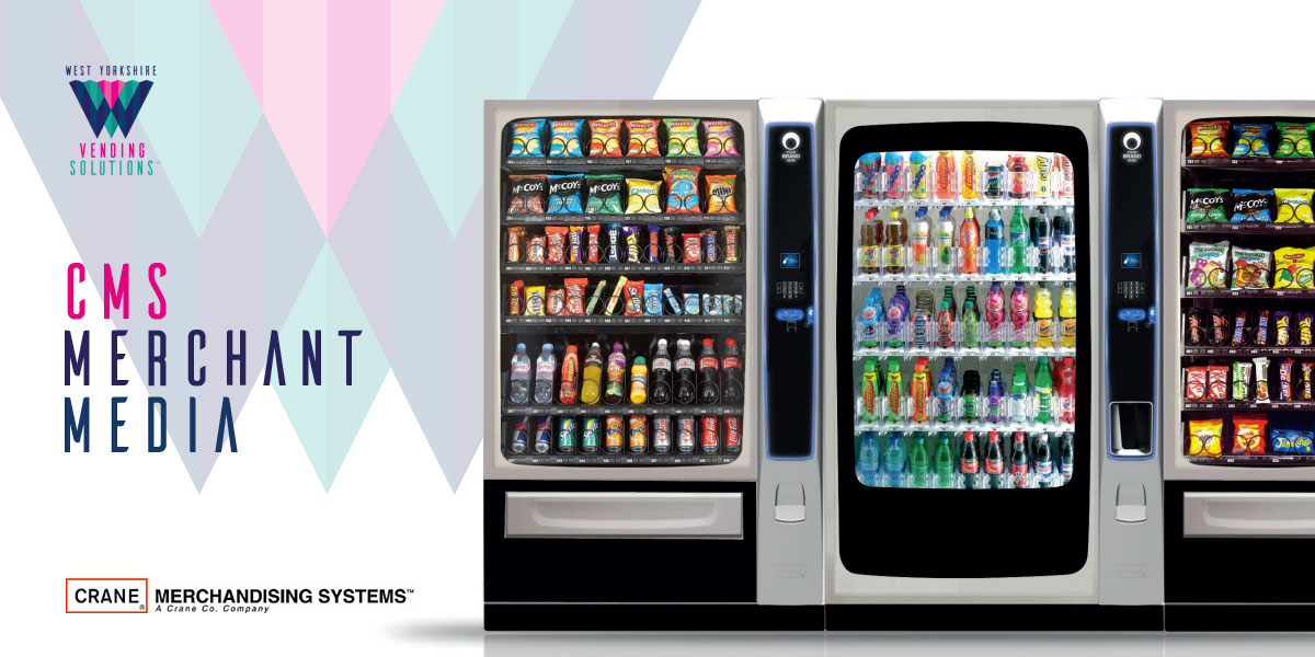 CMS Merchant Media snack and chilled drinks vending machines
