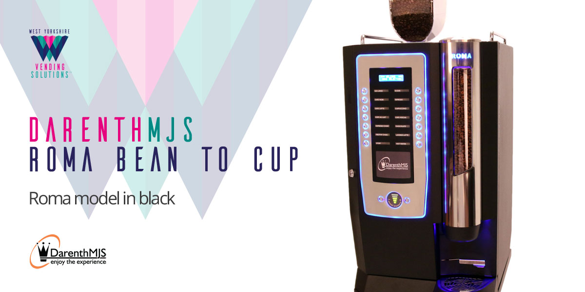 DarenthMJS Roma Bean to Cup table top vending machine in Black