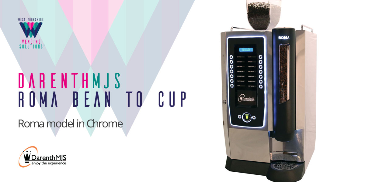 DarenthMJS Roma Bean to Cup table top vending machine in Chrome