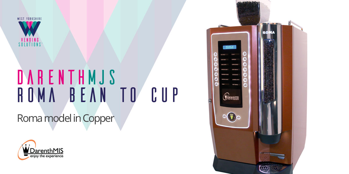 DarenthMJS Roma Bean to Cup table top vending machine in Copper